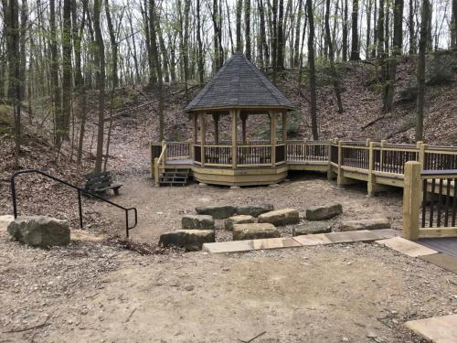 Towner's Woods Gazebo construction, spring