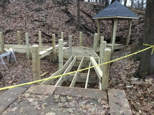 Towner's Woods Gazebo construction fall, rough framing
