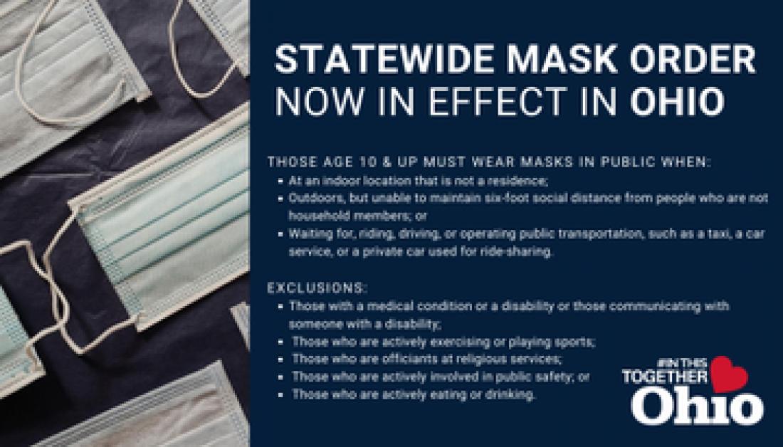 July 23 Ohio Statewide Mask Order