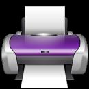 purple printer