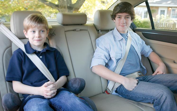 Kids Wearing Seatbelts
